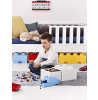 Lego Brick Box 8 Knob with 2 Storage Drawers - White