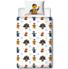 Lego Movie 2 Action Single Panel Duvet Cover and Pillowcase Set