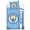 Manchester City FC Stripe Single Cotton Duvet Cover Set