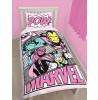 Marvel Comics Pink Pastels Single Duvet Cover Bed Set