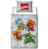 Marvel Comics Retro 4 in 1 Junior Bedding Bundle (Duvet, Pillow, Covers)