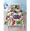 Marvel Comics Scribble Single Duvet Cover and Pillowcase Set