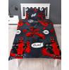 Marvel Deadpool Wahoo Single Duvet Cover and Pillowcase Set
