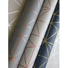 Geometric Metro Prism Triangle Wallpaper Grey and Rose Gold WOW009