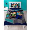Minecraft Survive Single Duvet Cover and Pillowcase Set