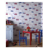 Arthouse Motor Mania Blue and Red Wallpaper - 533501