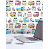 VW Campervans and Scooters Wallpaper - Muriva J05901