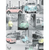 VW Volkswagen Collage Wallpaper - Pastel - 102563