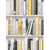 Fashion Library Bookcase Wallpaper - Gold - 139503
