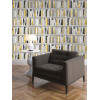 Fashion Library Bookcase Wallpaper - 139503 - Gold
