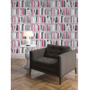 Fashion Library Bookcase Wallpaper - 139501 - Pink