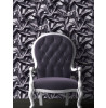 Muriva Gathered Silk Effect Wallpaper - F72909 - Grey / Black