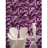 Muriva Gathered Silk Effect Wallpaper - F72906 - Purple