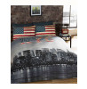 New York Skyline Double Duvet Cover & Pillowcase Set
