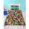 Nintendo Super Mario Gang Single Duvet Cover Bedding Set