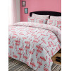 Flamingo Double Duvet Cover and Pillowcase Set