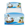 PriceRightHome Pirates Exclusive Design Toddler Bed with Underbed Storage and Deluxe Foam Mattress