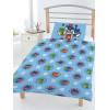 PJ Máscaras Insignias 4 en 1 Juego de ropa de cama para niños pequeños (edredón, almohada y fundas)