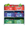 PJ Masks 6 Bin Wood Frame Storage Unit