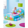 Peppa Pig Junior Toddler Bed with Storage plus Deluxe Foam Mattress