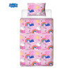 Peppa Pig Hooray Single Rotary Duvet Cover Set