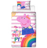 Peppa Pig Hooray Single Panel Duvet Cover and Pillowcase Set