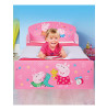 Peppa Pig Toddler Bed with Deluxe Foam Mattress