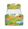 PriceRightHome Dinosaur Toddler Bed with Underbed Storage plus Foam Mattress