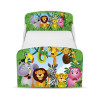 PriceRightHome Jungle Toddler Bed with Underbed Storage and Deluxe Foam Mattress