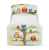 PriceRightHome Owls Toddler Bed with Underbed Storage and Foam Mattress