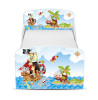 PriceRightHome Pirates Toddler Bed with Underbed Storage with Foam Mattress