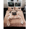 Pug Puppy King Size Duvet Cover and Pillowcase Set
