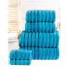 Ribbed Towel 6-PC Teal