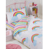Rainbow Sky Single Duvet Cover Set