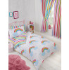 Rainbow Striped Stripey Junior Toddler Bed Fitted Sheet and Pillowcase Set