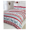 Scandi Christmas Brushed Cotton Double Duvet Cover Set