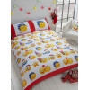 Emoji Icons Christmas Single Reversible Duvet Cover Set