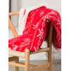 Christmas Nordic Print Bergen Throw Blanket - Red