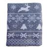 Christmas Nordic Print Bergen Throw Blanket - Grey