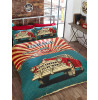 Retro Garage Double Duvet Cover Bedding Set