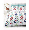 Lulu Floral Single Reversible Quilt Cover and Pillowcase Set White