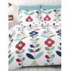 Floral Double Reversible Duvet Cover and Pillowcase Set - Lulu Design