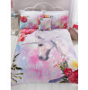 Sparkle Juego de funda de almohada y funda de almohada doble Unicorn