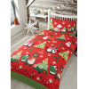 Together at Christmas Red Single Duvet Cover and Pillowcase Set