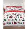 London Christmas Collage Single Reversible Duvet Cover Set