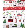 London Christmas Collage Single Duvet Cover Bedding Set
