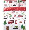 London Christmas Collage Double Duvet Cover Bedding Set