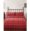 Campbell Red Tartan Brushed Cotton King Size Duvet Cover Set