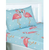 FiFi Flamingo Single Fitted Sheet and Pillowcase Set