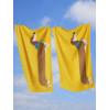 Asciugamano per cani salsiccia giallo